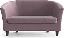 My Pop Design   Picpus 2-Sitzer-Sofa violett Samt