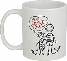 My Sweetheart® Vatertagsgeschenk | tolle PERSONALISIERBARE Vatertag Tasse | schöne Geschenkidee für Papa | Geschenke für Vater Sohn