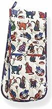 My Wee Tartan Katze–100% Baumwolle Küche Doppel Ofen Handschuh–Tartan Katzen Design–schottischen Doppelter Ofenhandschuh–Scottish Souvenir