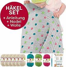 Myboshi Häkel-Set Babydecke Pünktchen 64cm x