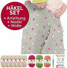 myboshi Häkel-Set Babydecke Pünktchen   aus No.2