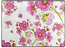 MyDaily Aquarell-Teppich mit Frühlingsblumen, 1,2