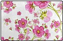 MyDaily Aquarell-Teppich mit Frühlingsblumen, ca.