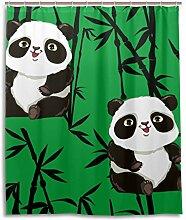 MyDaily Bambus Duschvorhang mit niedlichem
