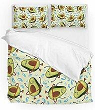 MyDaily Bettwäsche Set Avocado Cartoon Emoji