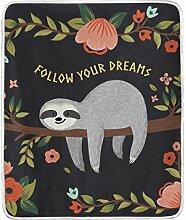 MyDaily Faultier Follow Your Dreams Überwurf,