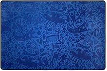 MyDaily Fußball-Teppich, 122 x 183 cm, für