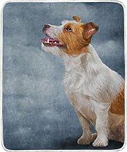 mydaily Jack Russell Terrier Hund Überwurf Decke