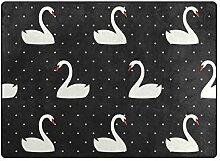 MyDaily Swan Teppich mit weißen Punkten, ca. 1,2