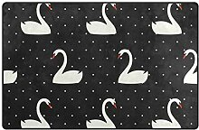 MyDaily Swan Teppich mit weißen Punkten, ca. 91 x
