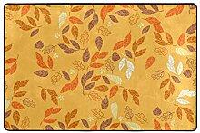 MyDaily Teppich Herbstblätter für Wohnzimmer,