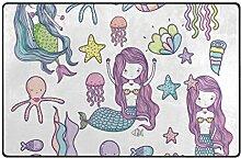 MyDaily Teppich, Meerjungfrau, Oktopus, Fisch, ca.