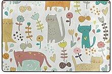 MyDaily Teppich mit niedlichem Cartoon-Motiv, 122