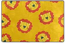 MyDaily Teppich mit niedlichem Löwenkopf-Motiv,