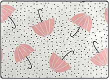MyDaily Teppich mit niedlichem Regenschirm,
