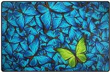 MyDaily Teppich mit Schmetterlingsmotiv, 91,4 x