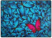 MyDaily Teppich mit schönem Schmetterlingsmotiv,