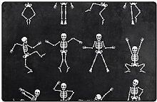 MyDaily Teppich mit tanzendem Skelett und
