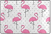 MyDaily Teppich mit tropischen Flamingo-Punkten,