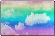 MyDaily Teppich mit Wolken-Motiv, 91,4 x 152,4 cm,