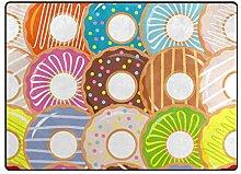 MyDaily Teppich, Motiv Donuts, 122 x 152 cm, für