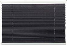 mydeco® 50x130 cm [BxH] in grau - Plissee Jalousie ohne bohren, Rollo für innen incl. Klemmträger (Klemmfix) - Sonnenschutz, Sichtschutz für Fenster