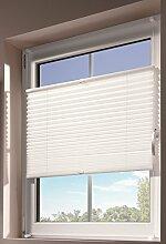 mydeco® 50x130 cm [BxH] in weiß - Plissee Jalousie ohne bohren, Rollo für innen incl. Klemmträger (Klemmfix) - Sonnenschutz, Sichtschutz für Fenster