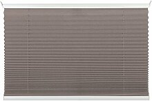 mydeco 80x130 cm [BxH] in taupe - Plissee Jalousie ohne bohren, Rollo für innen incl. Klemmträger (Klemmfix) - Sonnenschutz, Sichtschutz für Fenster