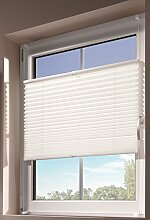 mydeco® 80x130 cm [BxH] in weiß - Plissee Jalousie ohne bohren, Rollo für innen incl. Klemmträger (Klemmfix) - Sonnenschutz, Sichtschutz für Fenster
