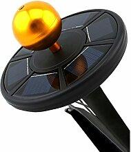 myfei LED Solar Fahnenmast Licht mit 26Flagge wetterfest Outdoor Fahnenstange Einbauleuchte Sicherheit Licht für Nacht Beleuchtung Lichter bis Flagge oder Outdoor Camping Zelt schwarz
