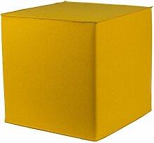 myFilz - Sitzwürfel 30 x 30 x 30 cm aus 3 mm Wollfilz gelb