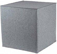 myFilz - Sitzwürfel 30 x 30 x 30 cm aus 3 mm Wollfilz hellgrau