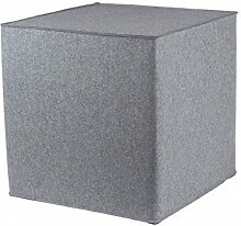 myFilz - Sitzwürfel 40 x 40 x 40 cm aus 3 mm Wollfilz hellgrau