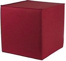 myFilz - Sitzwürfel 45 x 45 x 45 cm aus 3 mm Wollfilz kirsche