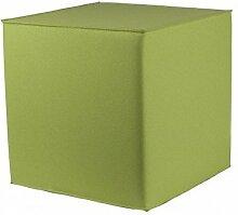 myFilz - Sitzwürfel 45 x 45 x 45 cm aus 3 mm Wollfilz limone