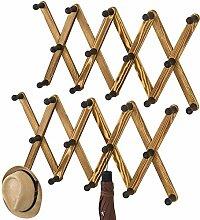 MyGift Kleiderbügel mit 14 Haken, Holz, zur