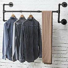 MyGift Kleiderstange für Wandmontage, Metallrohr