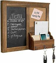MyGift Kreidetafel mit Korktafel und Briefhalter,