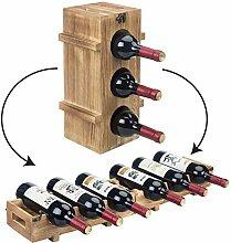 MyGift Mehrzweck-Weinregal für 6 Flaschen