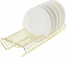 MyGift Moderner Messing-Metall-Küchenteller,