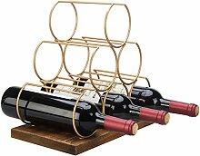 MyGift Modernes Weinregal aus Messing mit