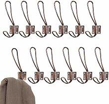 MyGift Vintage Garderobenhaken, doppelzackig,