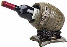 MyGift Weinregal für 1 Flasche, dekorativ,