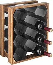 MyGift Weinregal für 11 Flaschen, Holz und