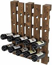 MyGift Weinregal für 20 Flaschen, Braun