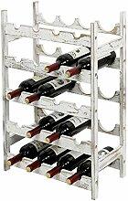 MyGift Weinregal für 20 Flaschen, weiß