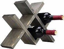 MyGift Weinregal für 4 Flaschen, Vintage-Stil,