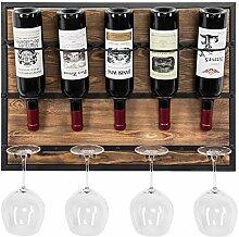 MyGift Weinregal für 5 Flaschen, modernes