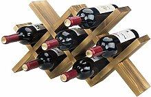 MyGift Weinregal für 7 Flaschen, modernes Design,