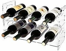 MyGift Weinregal für 8 Flaschen, modern,